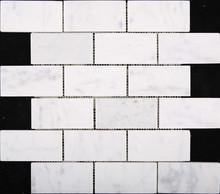 "12""x12"" Carrara White Rectangle Marble Natural Stone Mosaic"