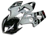 For suzuki fairings GSXR1000 03-04 k3 ABS body kit fairing black/white