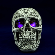 resin halloween human skull 15*10.5*11cm G025