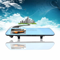 Latest wireless rearview mirror navigation for android , gps car rearview mirror with dvr