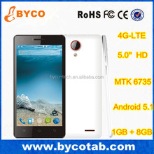 cheapest price android smart phone 5 inch IPS screen 4g china Android 5.1mobile phone unlocked