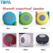2015 estéreo de taza de succión ducha mini usb altavoces a prueba de agua con mic venta