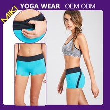 Fashion tight fitted yoga clothing womens yoga shorts girl sport seamless shorts