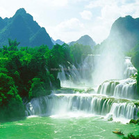 Relax yourself here nature scenery 3d wall paper for hotel decoration upscale decoration wall wallpaper