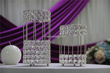 crystal beaded bird cage candle holder/metal candle holder parts/crystal candleholder wedding