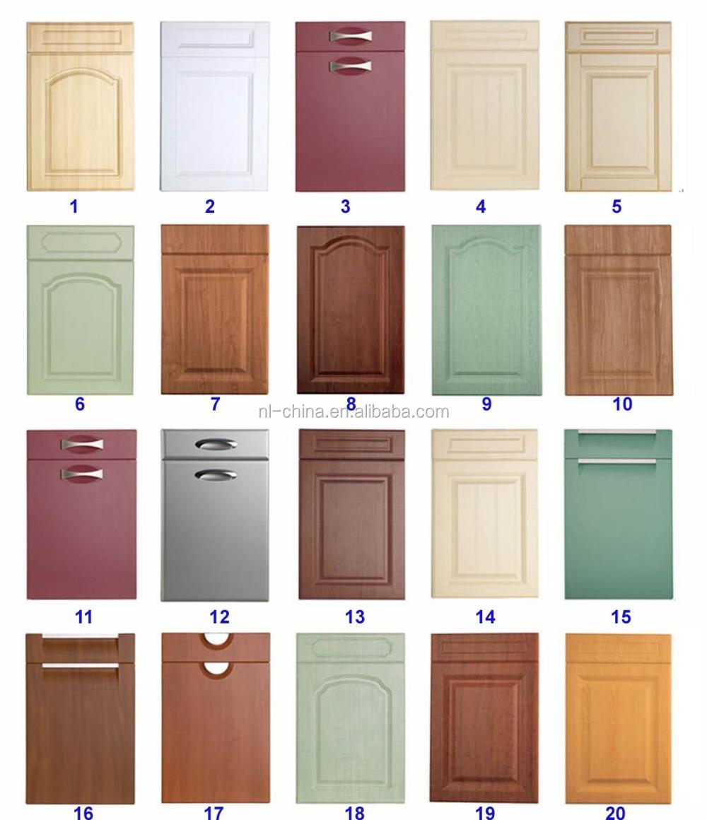 Wholesale kitchen cabinet set pvc wood grain laminate for Wood grain kitchen doors