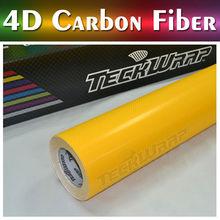 TeckWrap coches etiqueta de precio al por mayor el 1.52 * 20 5 * 65ft 5 colores lámina de fibra de carbono 4d para el cambio de