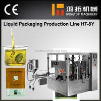 Advanced plastic pouch liquid packing machine