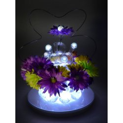 Romantic Garden World Lighting White Battery Operated Round LED Fairy LED Berry