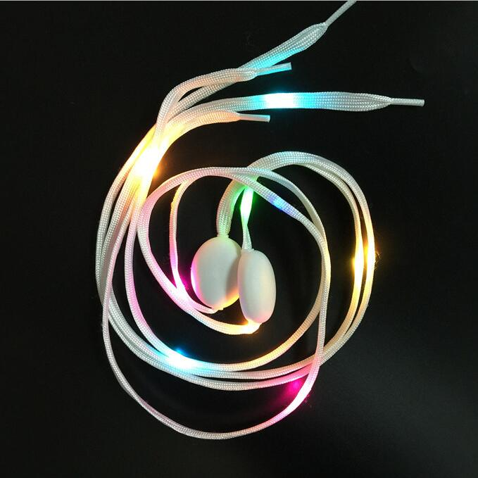 Оптовая продажа Glow светодиодное освещение Красочные партии шнурки