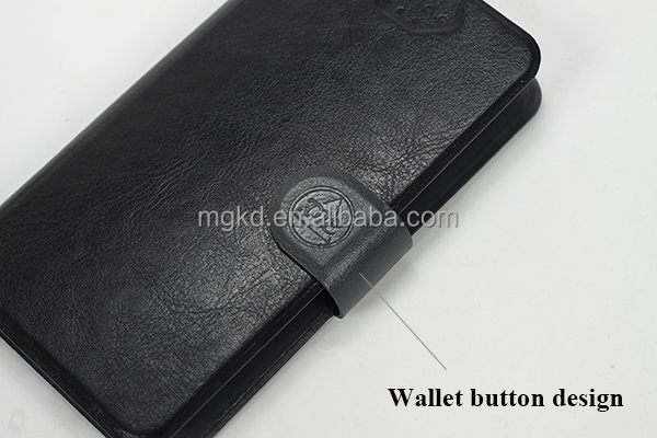 China wholesale wallet style smartphone universal leather case 4.5-5.0 inch