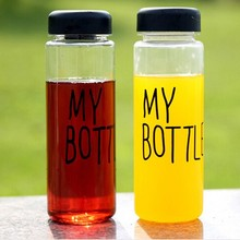Sports water my bottle 500 ml hiking camping lemon juice drinkware cup with bag
