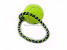 Dog Cotton Rope Ball toys with soft rubber free sample offer