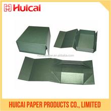 Luxury paper flat pack handmade folding fabric drawer organizer box
