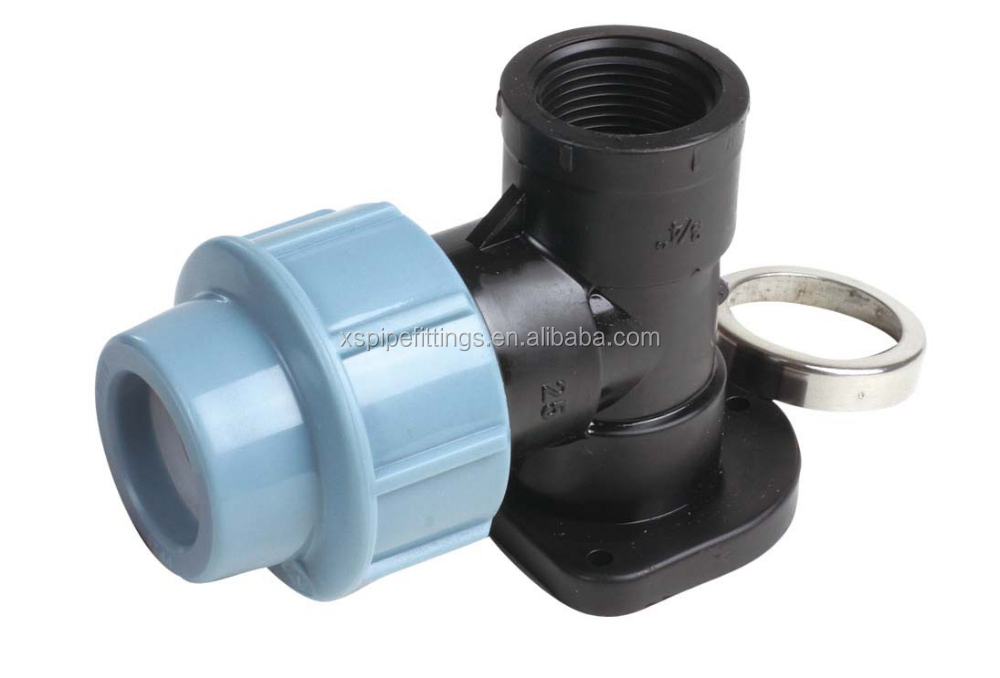 Hdpe pp compression fittings elbow with ear for