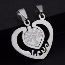 Custom stainless steel best friend forever pendant