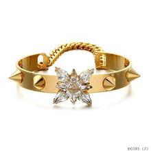 Fashion Trendy Stone Studed Rivet Bracelet Bangle