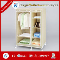 home stainless steel fabric wardrobe
