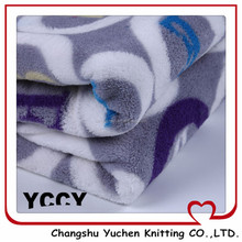 active sublimation print very soft microfibre coral fleece cute baby blanket fabric