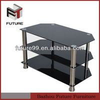 home furniture LCD LED glass tv stand