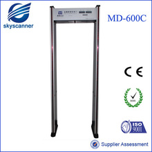 Security checking door frame archway weapon and metal walk through detector gate