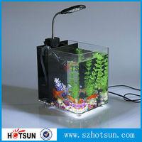 2015 new product Acrylic Aquariums,clear acrylic fish tank with LED light