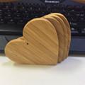 2016 Teda símbolo do coração de bambu ornamentos