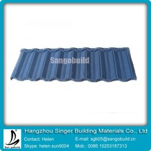 Decorative Stone Coated Metal Villa Roof Tile/stone coated metal roofing sheet/building construction material