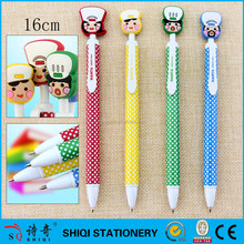 souvenir gift 3D PVC top cartoon pen
