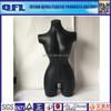 Plastic Black Inflatable Female Mannequin 3/4 Form Body, QFL