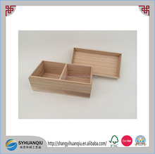 Cheap unfinished wooden tea box with moved lid