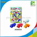 2014 atacado novo produto carro roda livre brinquedo 12 pcs plástico mini brinquedos do carro