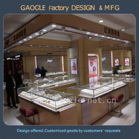 Custom top end MDF furniture shop counter for jewelry store