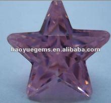 hot sale five-star cubic zirconia cz stone pink man made diamonds for jewelry/diamond beads