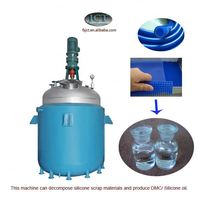 machine for Pyrolysising silicone rubber with aluminum back