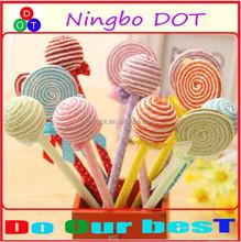 2015 lollipop shaped ballpoint pen Creative candy Pen Design For Promotional