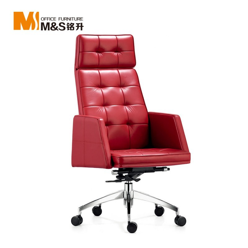 modern office furniture manager metal leather office chair