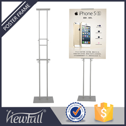 Floor Standing Poster Frame For Double Sided Display