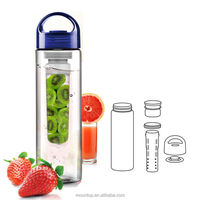 business idea creative logos infusion water bottle bpa free plastic drinking juce bottle