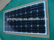 100w mono with high efficiency solar panel made in China