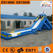 amusement park commercial giant inflatable dragon screamer water slide