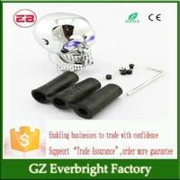 Trade Assurance Gear Shift Knob aluminium alloy Car Stalls Head Gear Shift Knob Modified Manual Gear Stick Head Skull With light