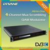 Multiplexer Scrambler QAM Modulator/All-in-one Broadcast 4*QAM Digital RF Multiplexer Scrambler Qam Modulator