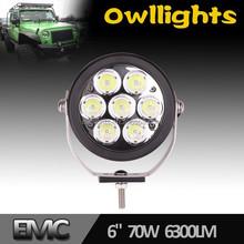 70W LED Driving Light 6 Inch Round LED Driving Light 70w Off Road LED Light ATV led lights 12v motorcycle led headlight