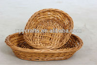 willow wicker plate tray (factory supplier)