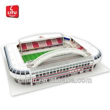 juguete 3d estadio de fútbol del modelo