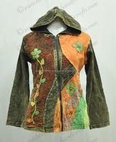 Beautiful Bohemian Enzyme wash Hoodies Jacket Ladies Clothing CSWJ 212