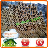 insulation for civil heat supply fibreglass wool tube