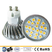 Factory price 230V SMD Aluminum Energy saving Ra>80 Warm white 4W LED GU10