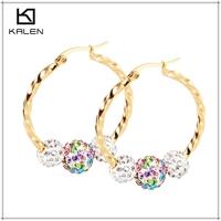 dubai duplicate 24k gold plated costume jewelry earrings